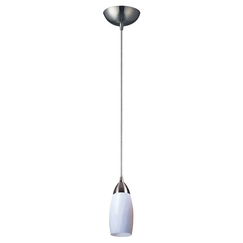Titan Lighting Milan 1-Light Satin Nickel Ceiling Pendant