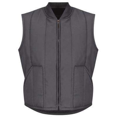 Men's Size L (Tall) Charcoal Quilted Vest