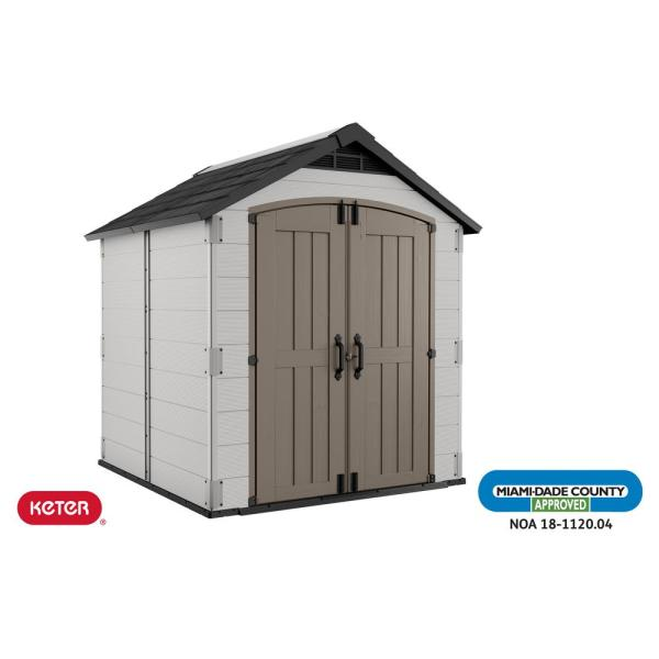 Montfort Extreme Weather 7 ft. x 7.5 ft. Resin Outdoor Storage Shed