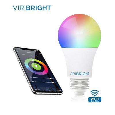 60-Watt Equivalent Multi-Color and White Ambiance A19 Dimmable Wi-Fi Smart Connected LED Light Bulb