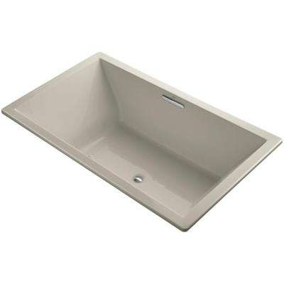 Underscore 6 ft. Acrylic Rectangular Drop-In or Undermount Whirlpool Bathtub in Sandbar