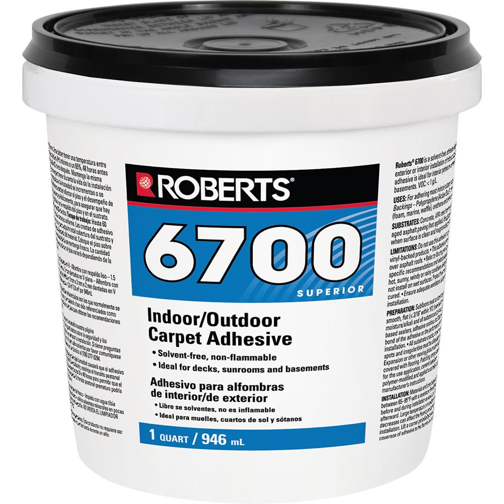 Roberts 6700 1 Qt. Indoor/Outdoor Carpet and Artificial Turf Adhesive