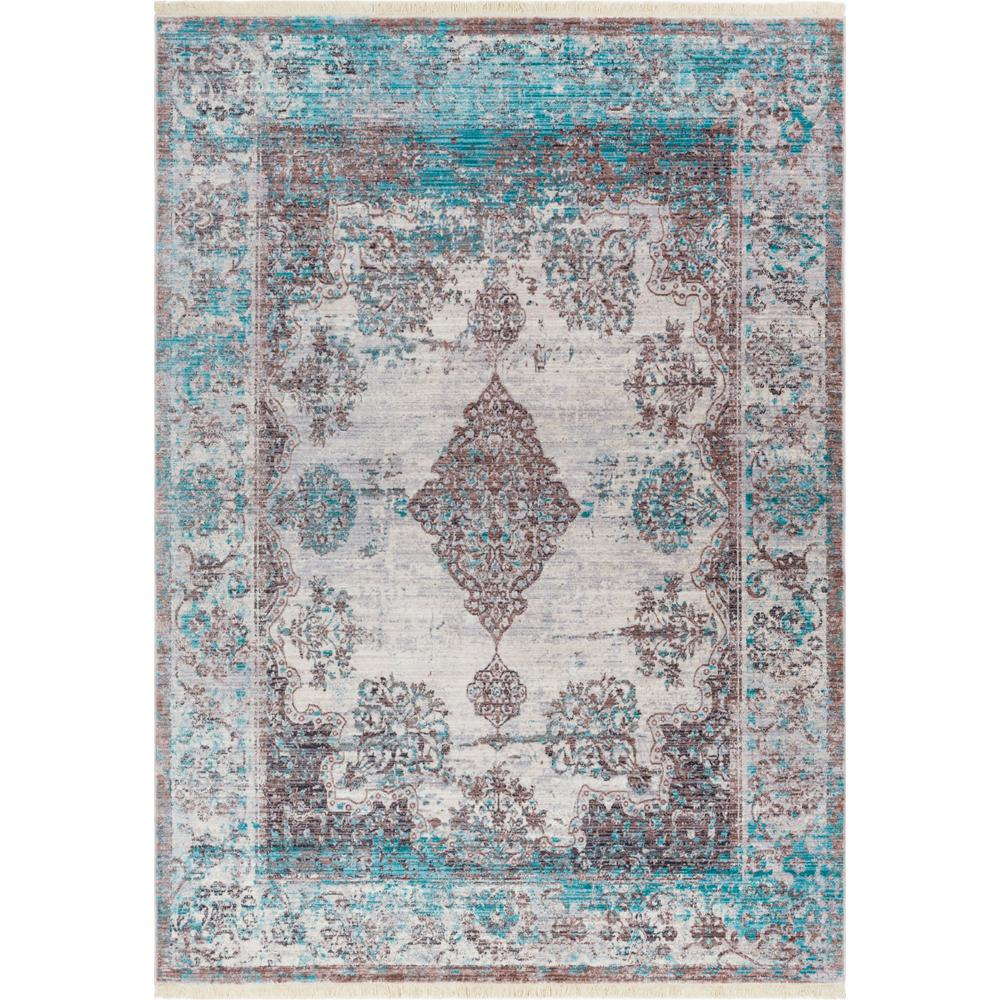 Well Woven New Age Sultana Blue 4 Ft. X 6 Ft. Traditional