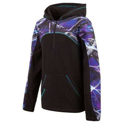 HUNTWORTH Youth Girl's Small Ultraviolet / Black Hooded Pullover
