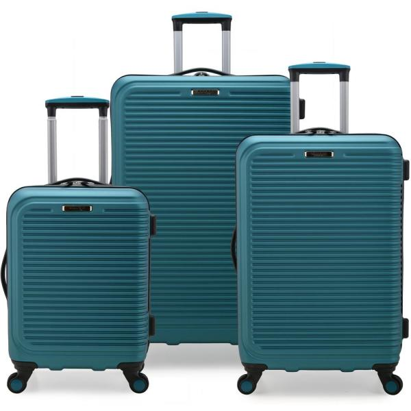 Elite Luggage Elite Luggae Sunshine 3-Piece Teal Hardside Spinner Luggage Set