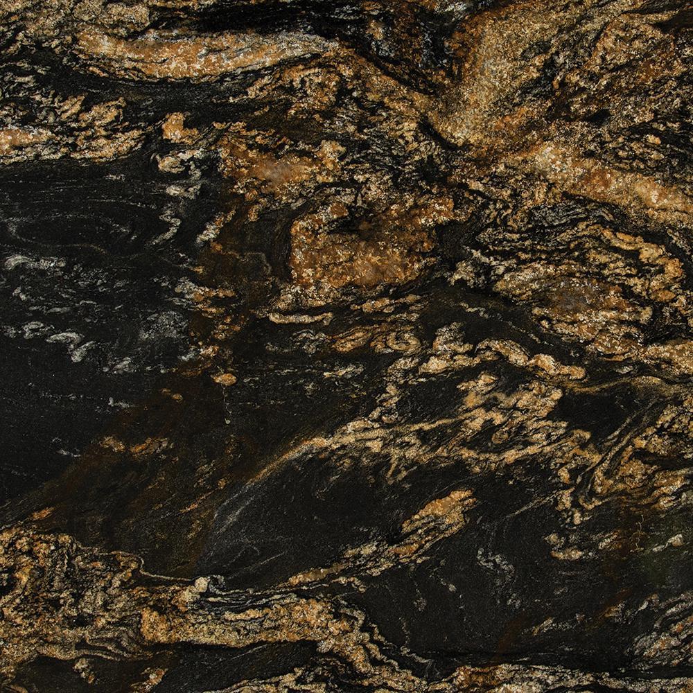 3 in  x 3 in  Granite Countertop Sample in Hidden Treasure