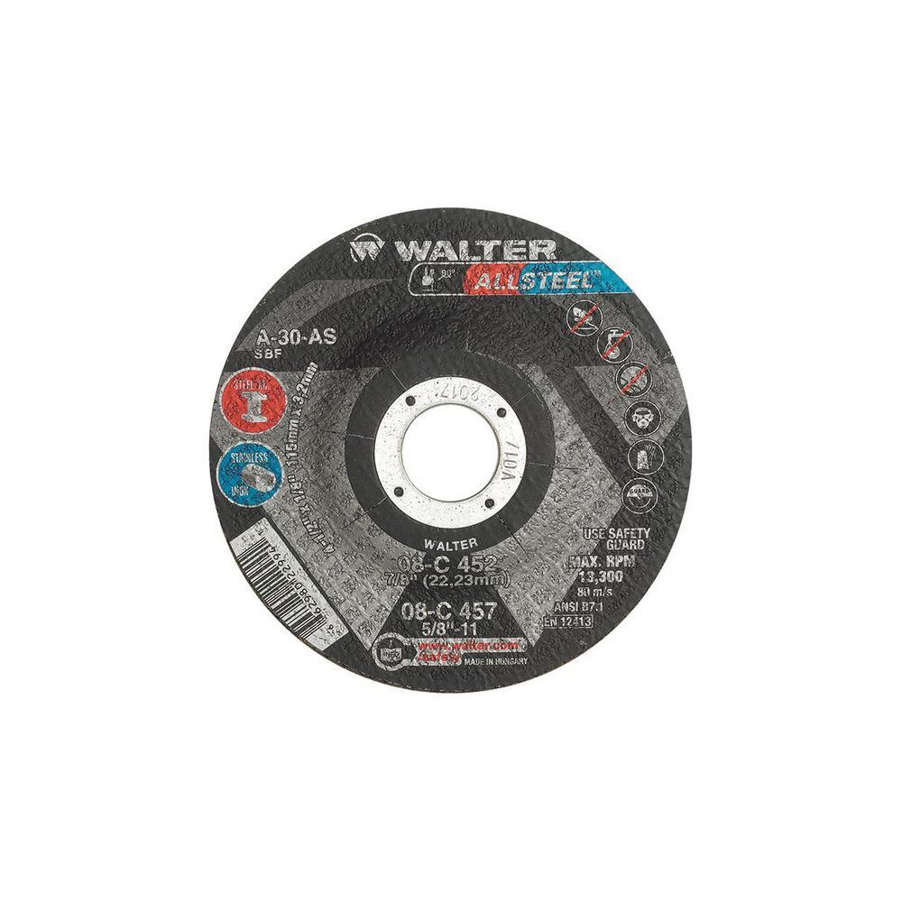 """20 new WALTER 4/"""" x 1//4/"""" x 5//8/"""" 08-K 400 Double X Steel Grinding Wheels A20-XX"""