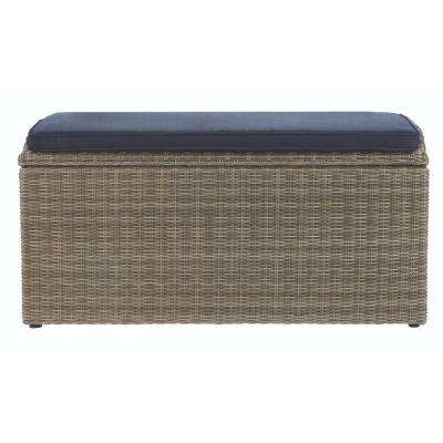 Naples 93.78 Gal. All Weather Wicker Patio Storage Box