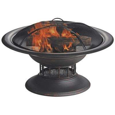 19.7 in. H Wood Burning Fire Bowl