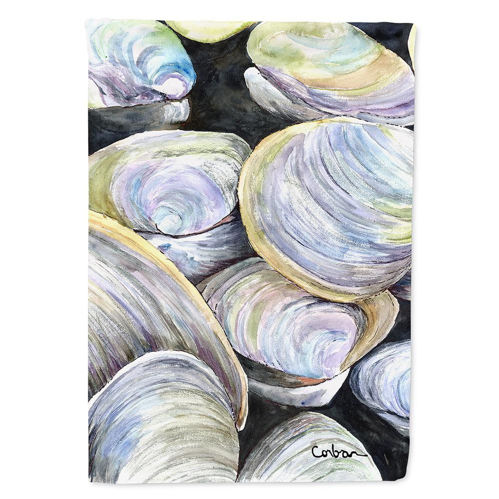 Caroline's Treasures 28 in  x 40 in  Polyester Clam Quahog Flag Canvas  House Size 2-Sided Heavyweight