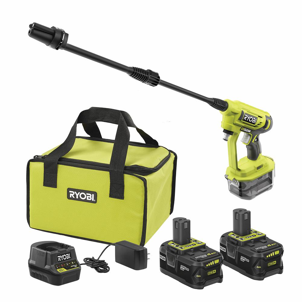 RYOBI 18-Volt ONE+ High Capacity 4.0 Ah Battery (2-Pack) Starter Kit with Charger and Bag w/BONUS ONE+Cold Water Power Cleaner was $178.97 now $99.0 (45.0% off)