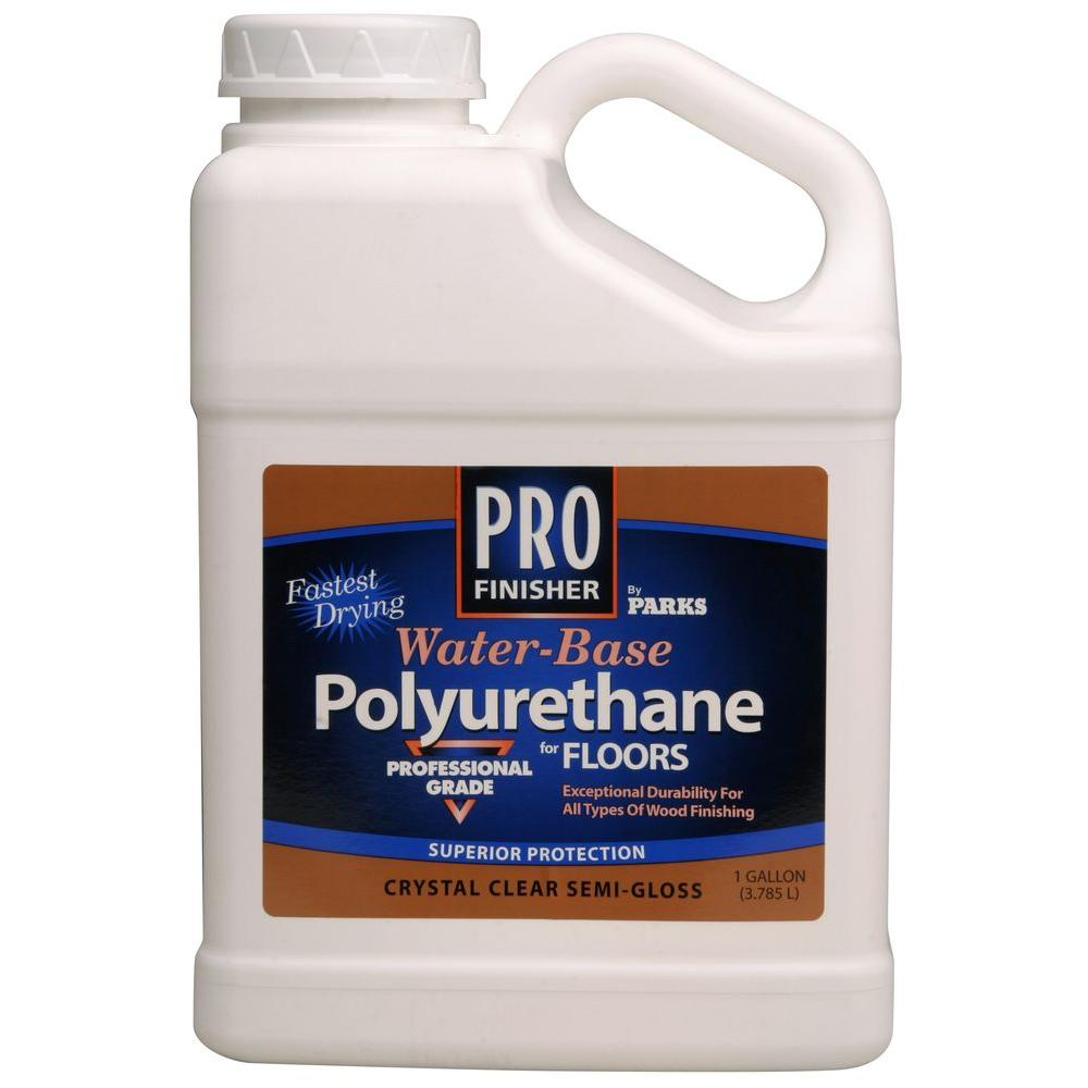 1 Gal Crystal Clear Satin Water Based Polyurethane For Floors