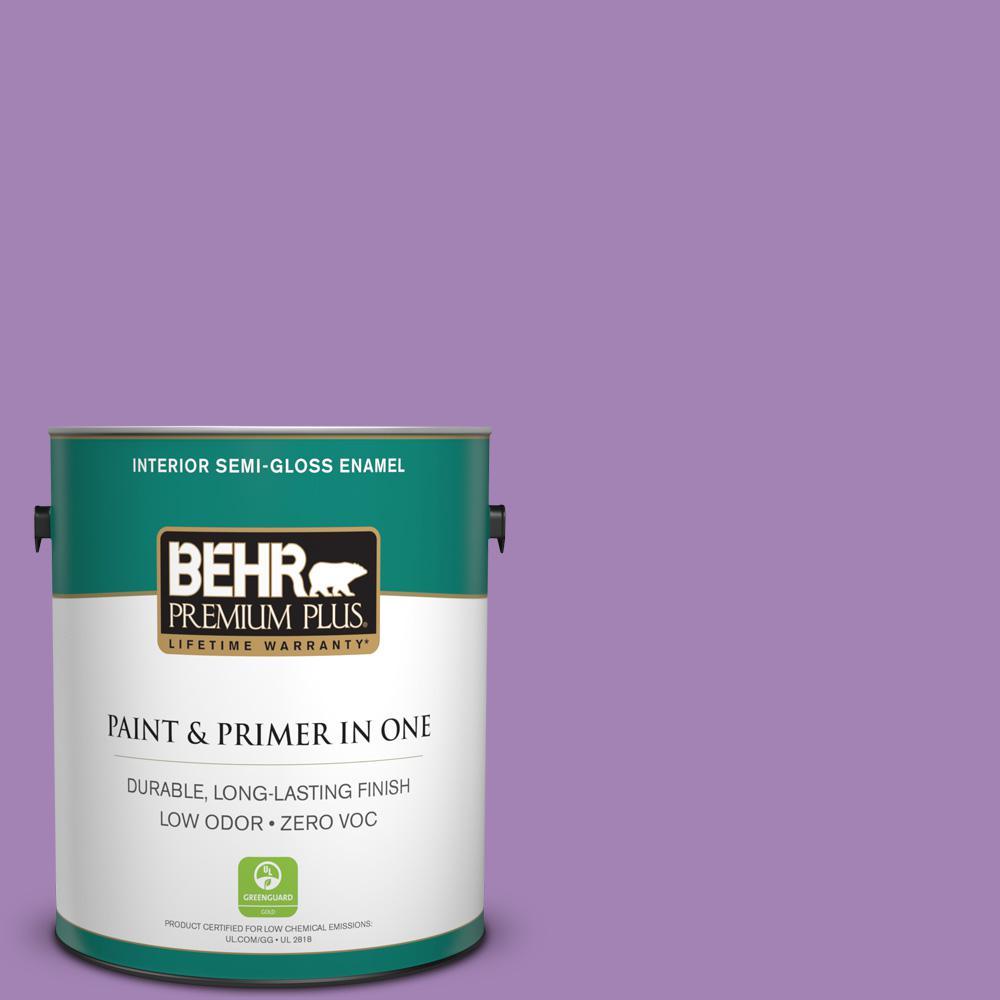 BEHR Premium Plus 1-gal. #660B-6 Daylight Lilac Zero VOC Semi-Gloss Enamel Interior Paint
