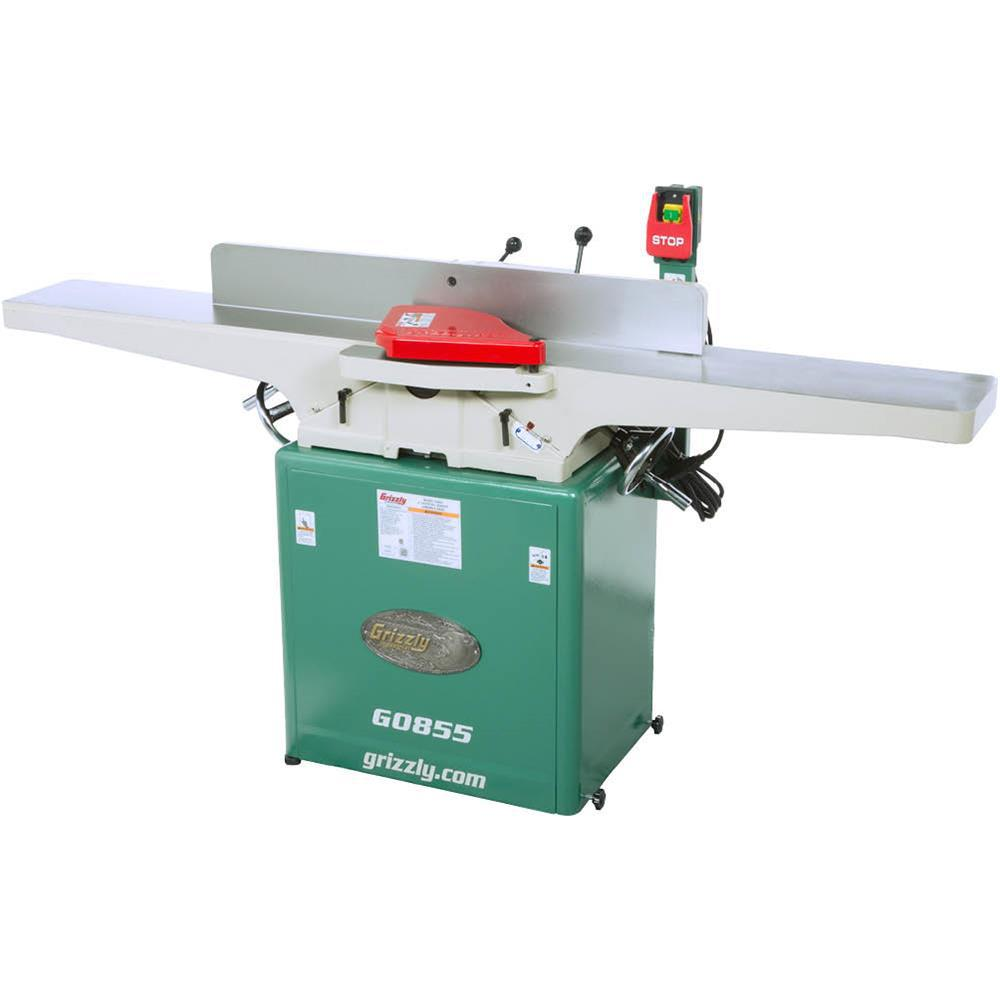 Grizzly Industrial 12 Amp 8 inch Corded Jointer w/ Built-in Mobile Base
