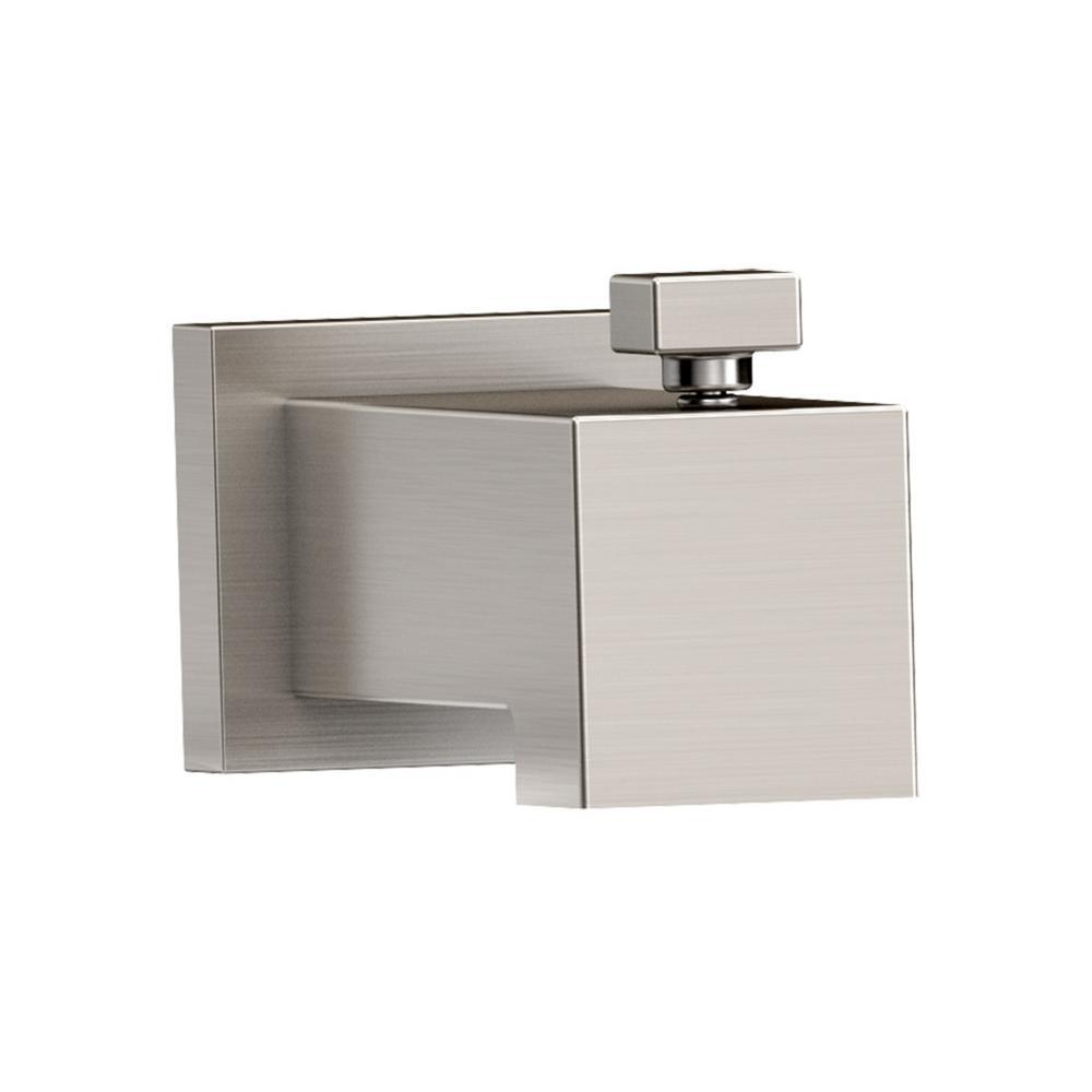 Duro Slip-On Diverter Tub Spout in Satin Nickel