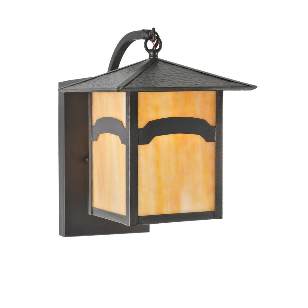 Illumine 1 Light Seneca Mountain Curved Wall Sconce Craftsman Finish