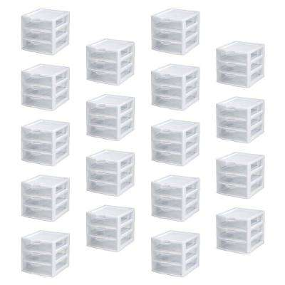 Small Compact Countertop 3 Drawer Desktop Storage Unit (18-Pack)
