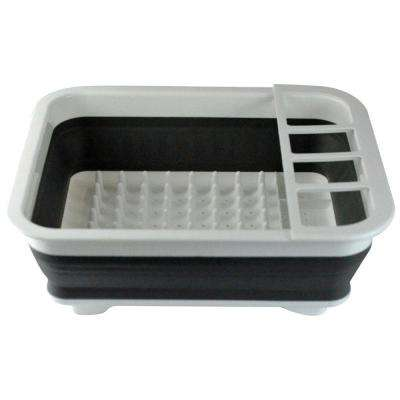 Collapsible Over-The-Sink Dish Drainer Tub