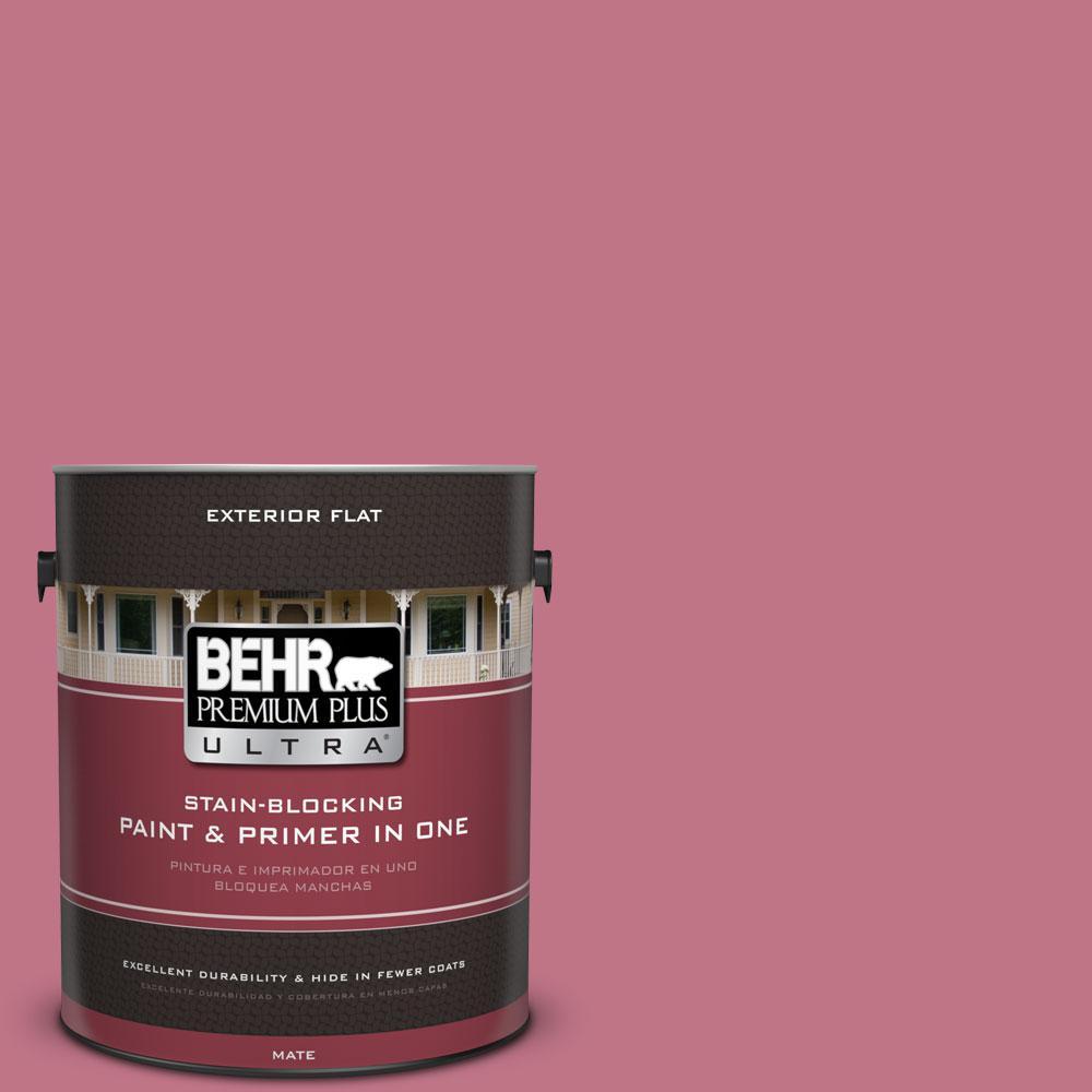 BEHR Premium Plus Ultra 1-gal. #110D-4 Rosily Flat Exterior Paint