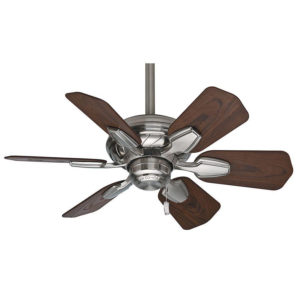 Wailea 31 in. Indoor/Outdoor Brushed Nickel Ceiling Fan