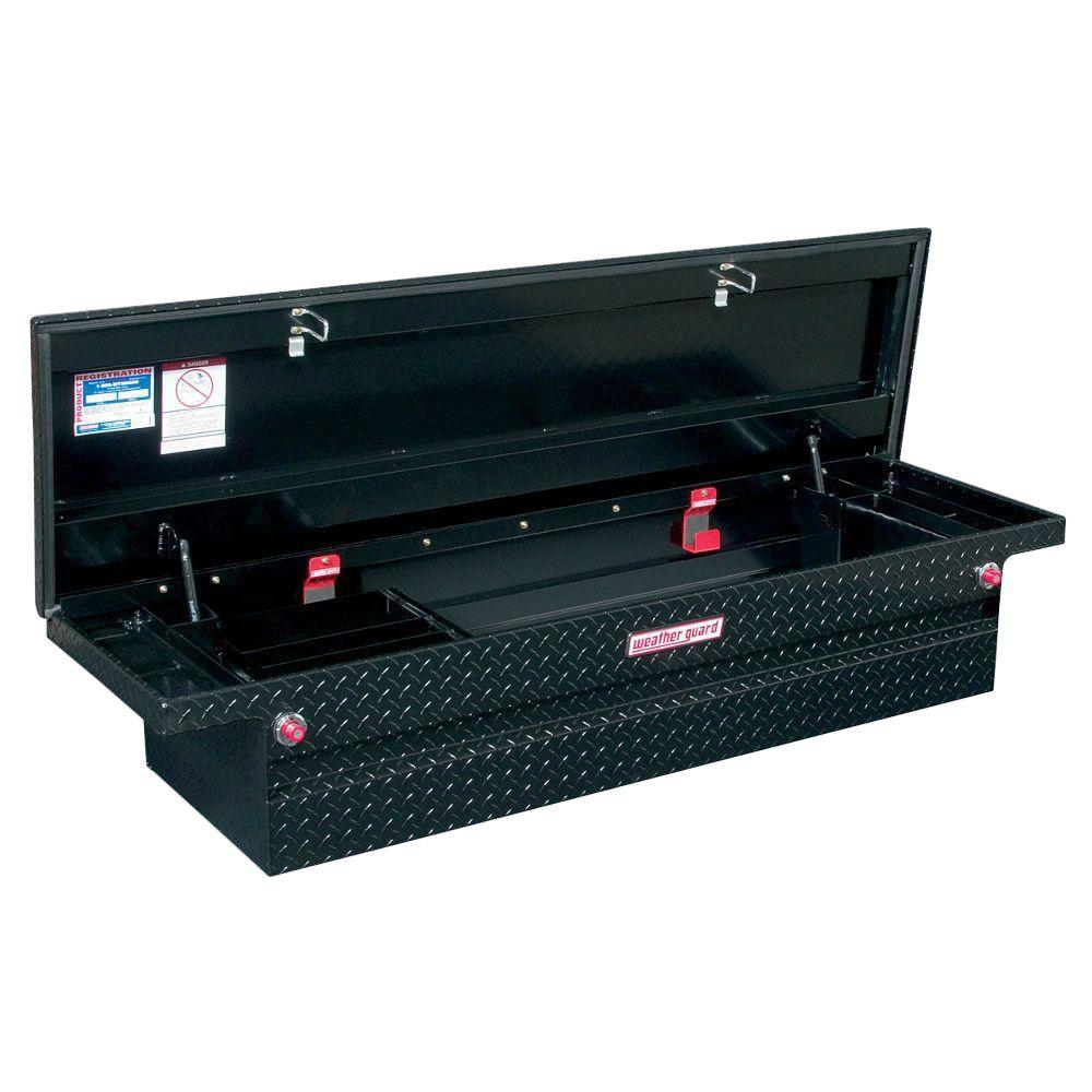 Weather Guard 71.5 Matte Black Aluminum Full Size Crossbed Truck Tool Box