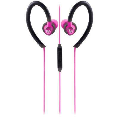 Sports Clip Earbuds with Mic, Pink