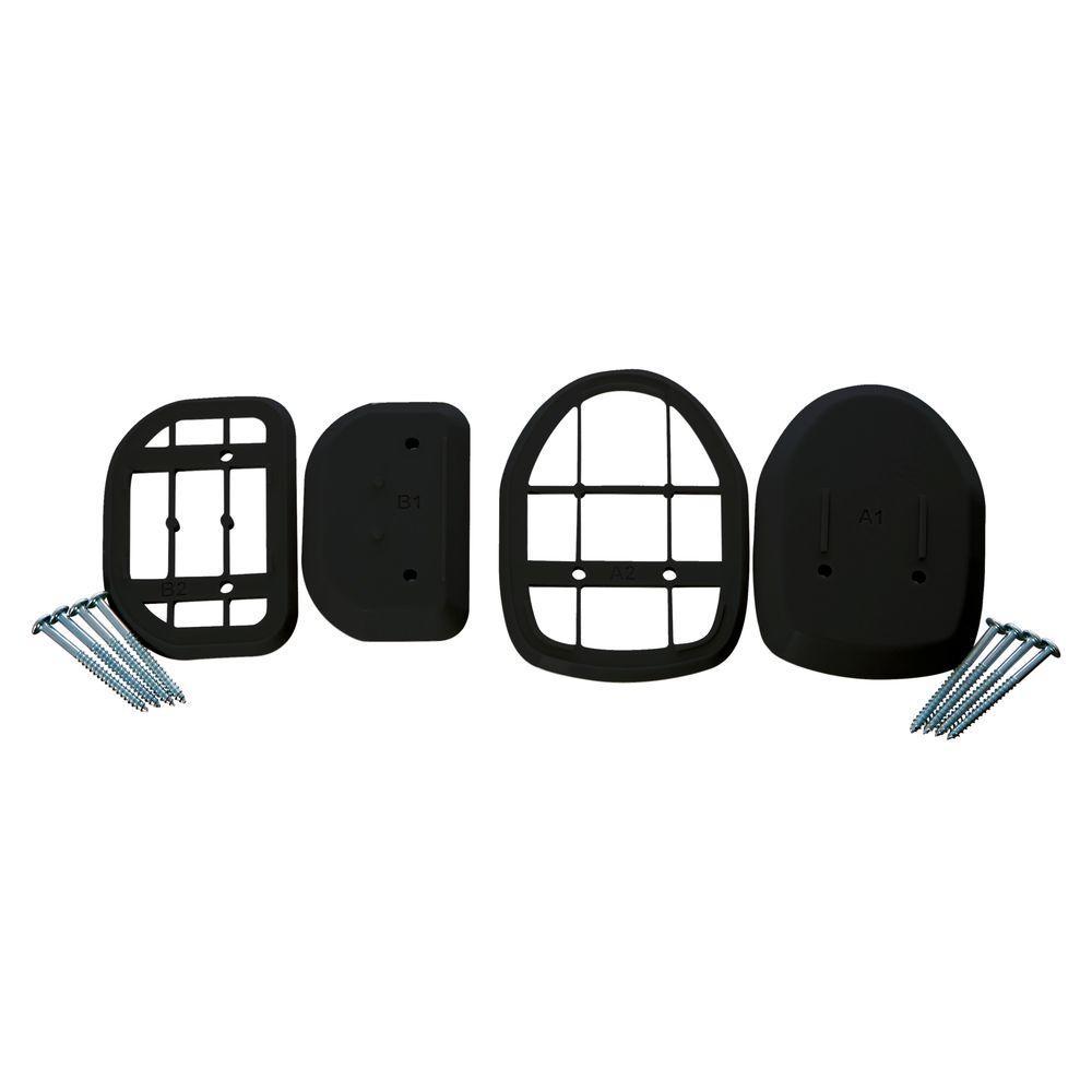 Black Spacer Kit for Retractable Indoor/Outdoor Gate