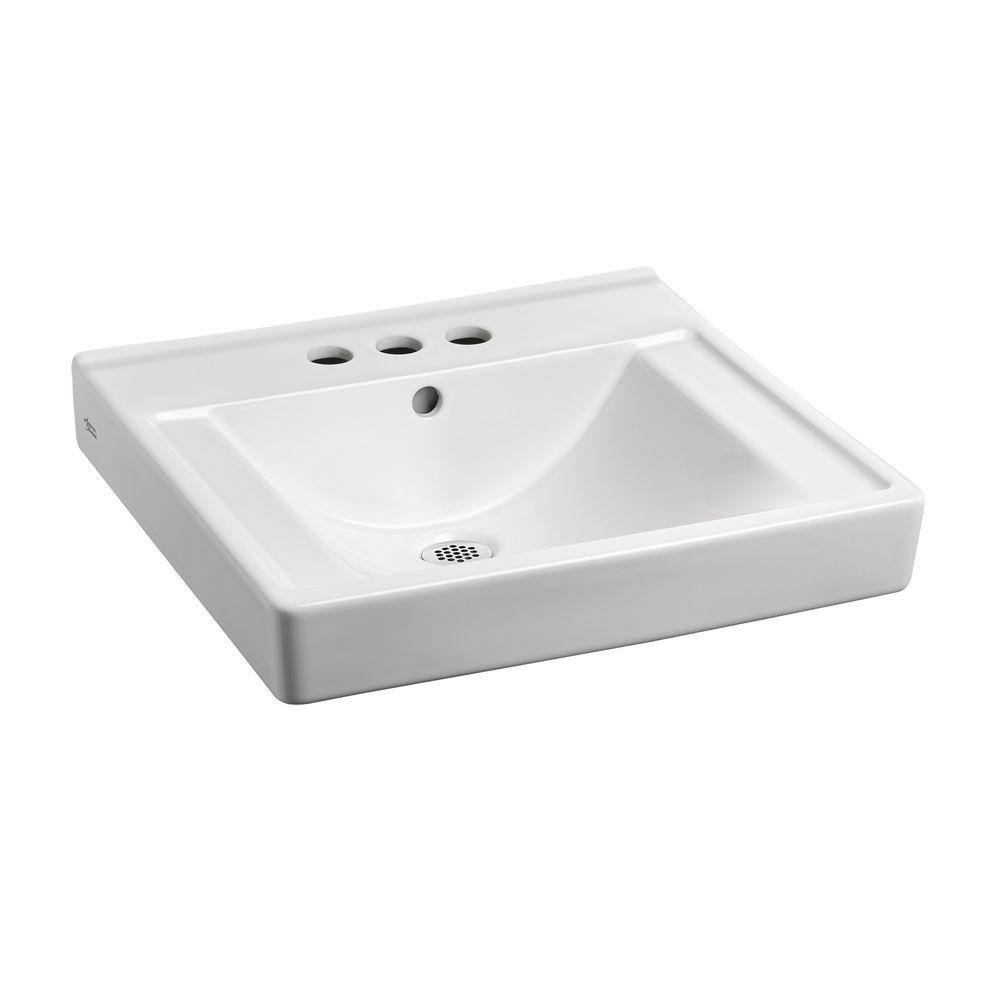 Decorum With EverClean 18 1/4 In. Wall Hung Bathroom Sink In White