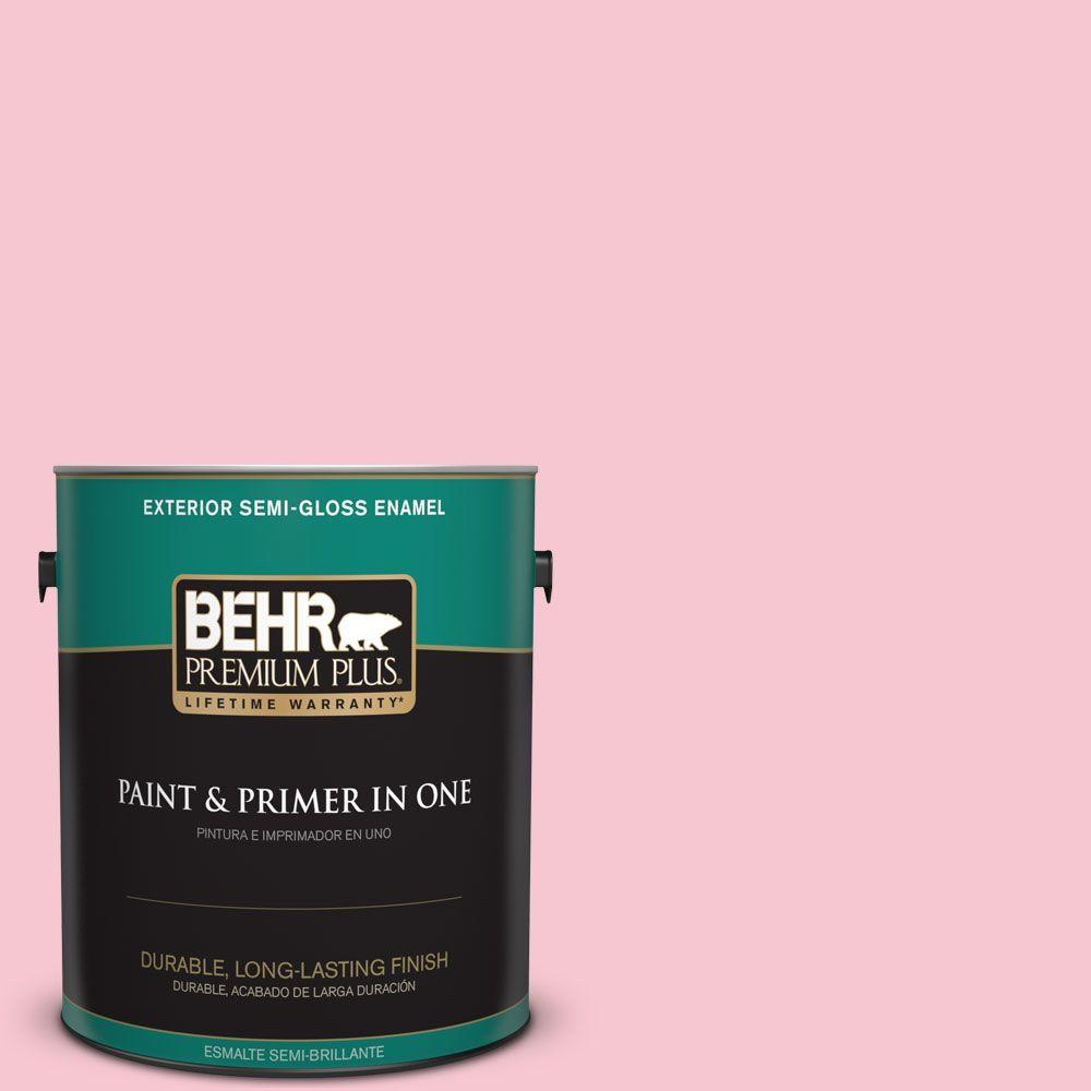 1-gal. #120B-4 Old Fashioned Pink Semi-Gloss Enamel Exterior Paint