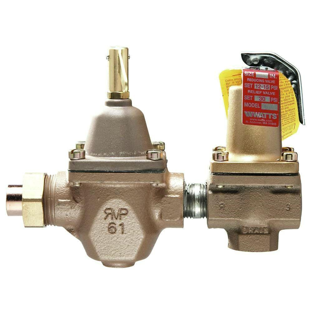 In cast iron fpt dual control regulator and relief