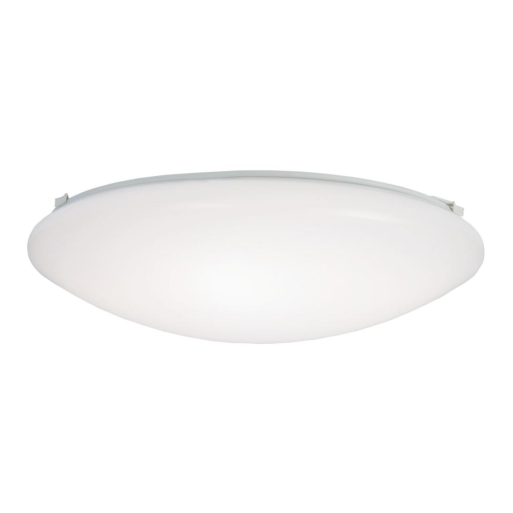 Metalux FM 15 in. White Round Integrated LED Flush Mount Light with Selectable Color Temperature (3000K-5000K)