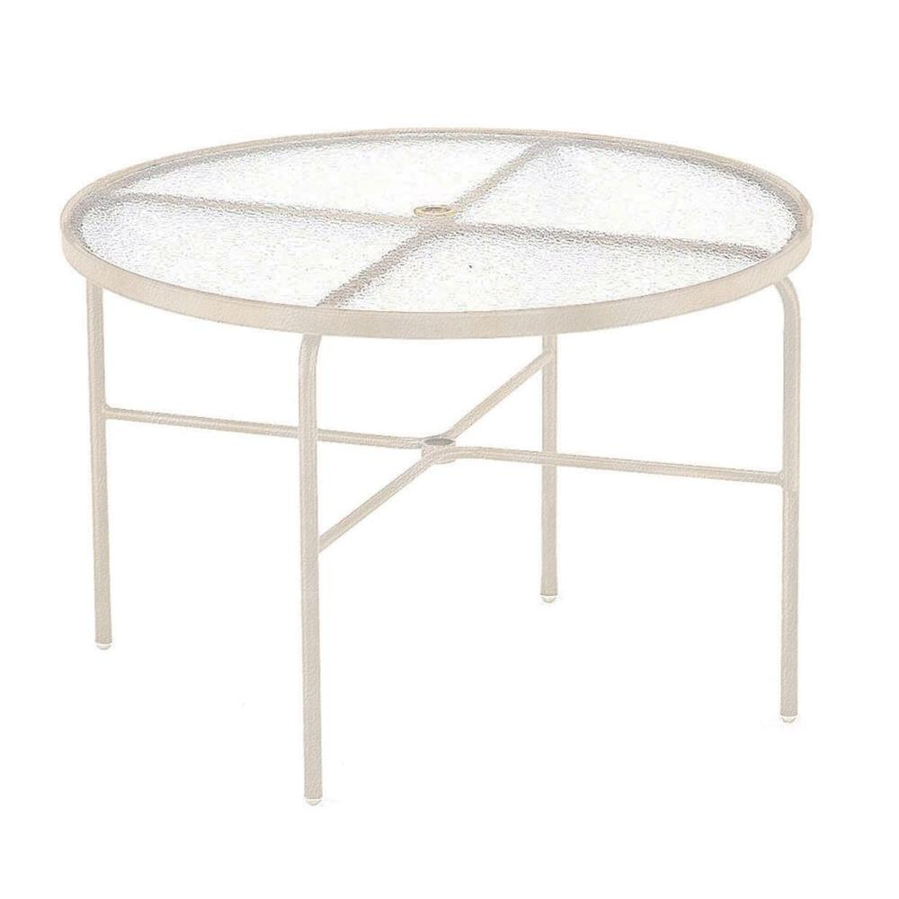 Antique Bisque Acrylic Top Commercial Patio Dining Table
