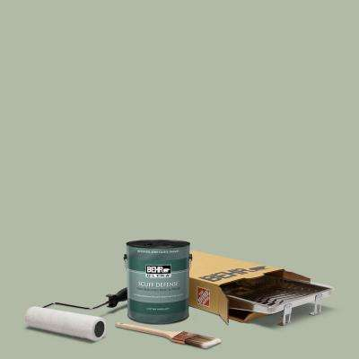 1 gal. #N390-3 Jojoba Extra Durable Semi-Gloss Enamel Interior Paint and 5-Piece Wooster Set All-in-One Project Kit