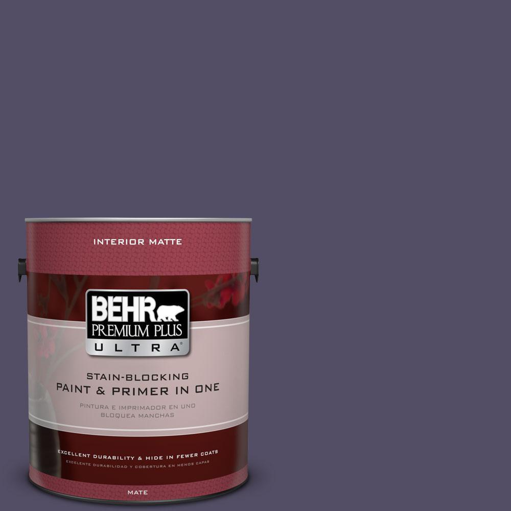 1 gal. #650F-7 Violet Eclipse Flat/Matte Interior Paint