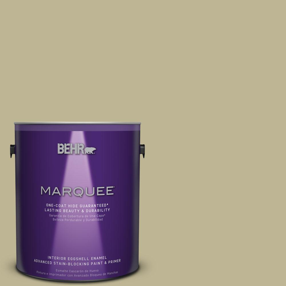 BEHR MARQUEE 1 gal. #MQ6-30 Bamboo Shoot One-Coat Hide Eggshell Enamel Interior Paint