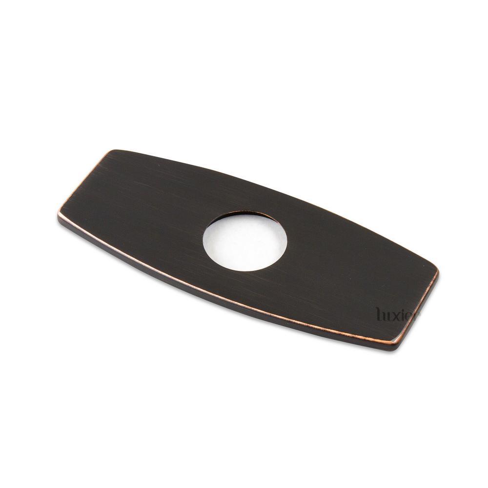 6 in. Brass Bathroom Vessel Vanity Sink Faucet Hole Cover Deck Plate Escutcheon Oil Rubbed Bronze