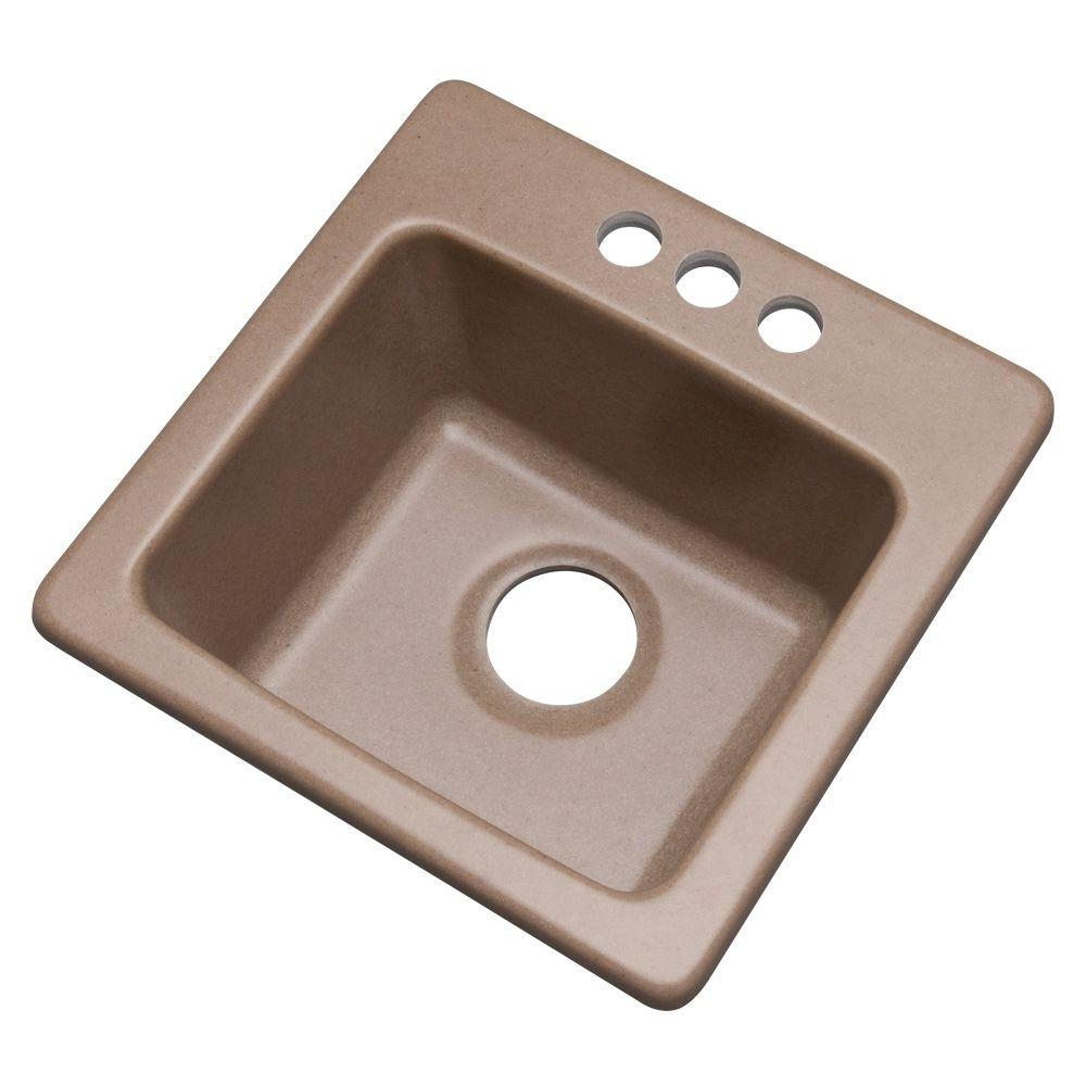 Westminster Dual Mount Composite Granite 16 in. 3-Hole Bar Sink in