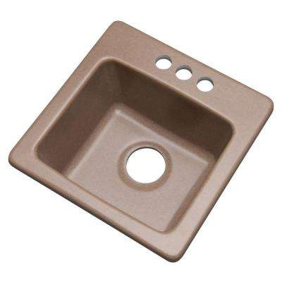 Westminster Dual Mount Composite Granite 16 in. 3-Hole Bar Sink in Natural