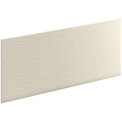 Choreograph 0.3125 in. x 60 in. x 28 in. 1-Piece Shower Wall Panel in Almond with Stix Texture