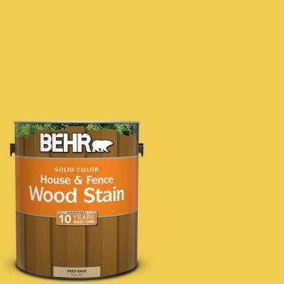 1 gal. #P310-6 Radiant Sun Solid Color House and Fence Exterior Wood Stain