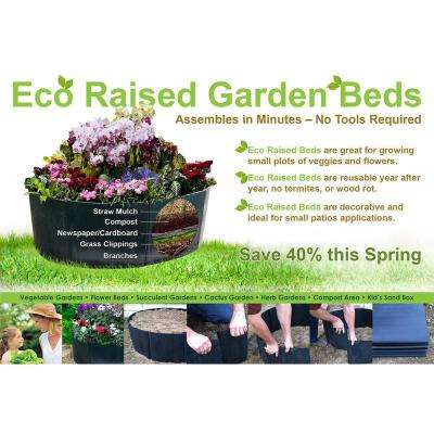 24 in. H x 24 in. L Black Polyethylene Above Ground Garden