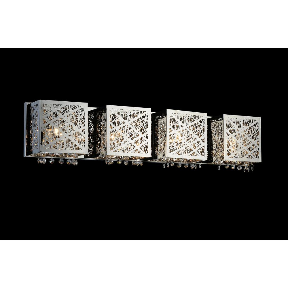 CWI Lighting Eternity 4-Light Chrome Sconce