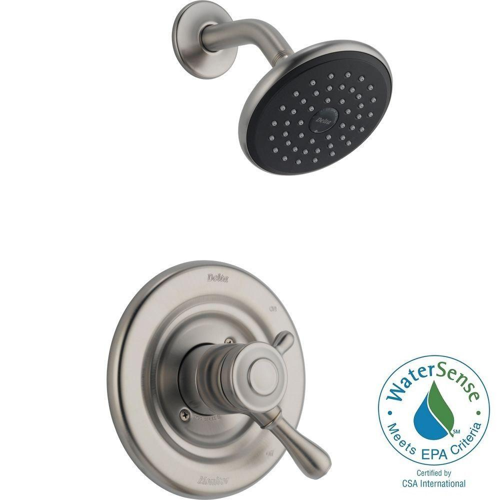Delta Leland 1-Handle Shower Only Faucet Trim Kit in Stainless (Valve Not Included)
