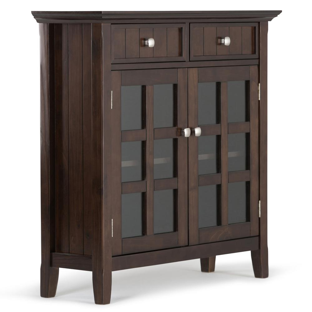 Entryway Cabinets: Simpli Home Acadian Tobacco Brown Entryway Storage Cabinet