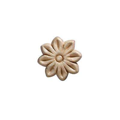 3100PK 7/32 in. x 1-1/2 in. x 1-1/2 in. Birch Small Tudor Rosette Onlay Ornament Moulding (4-Pack)