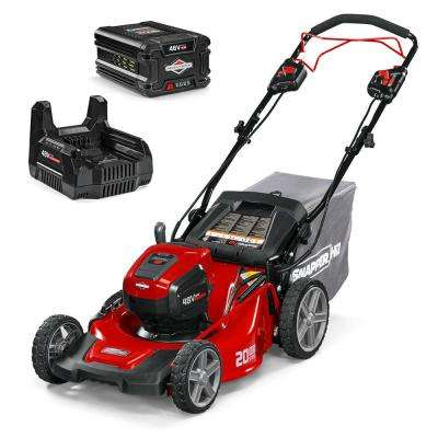 HD 20 in  48-Volt Lithium-Ion Cordless Battery Walk Behind Self Propelled  Push Mower with 5 0 Battery/Charger Included