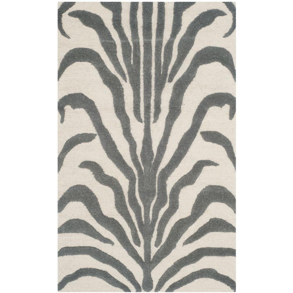 Cambridge Ivory/Dark Gray 3 ft. x 5 ft. Area Rug