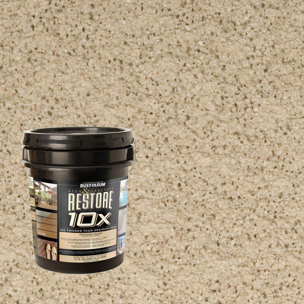 Rust-Oleum Restore 4-gal. Fieldstone Deck and Concrete 10X Resurfacer