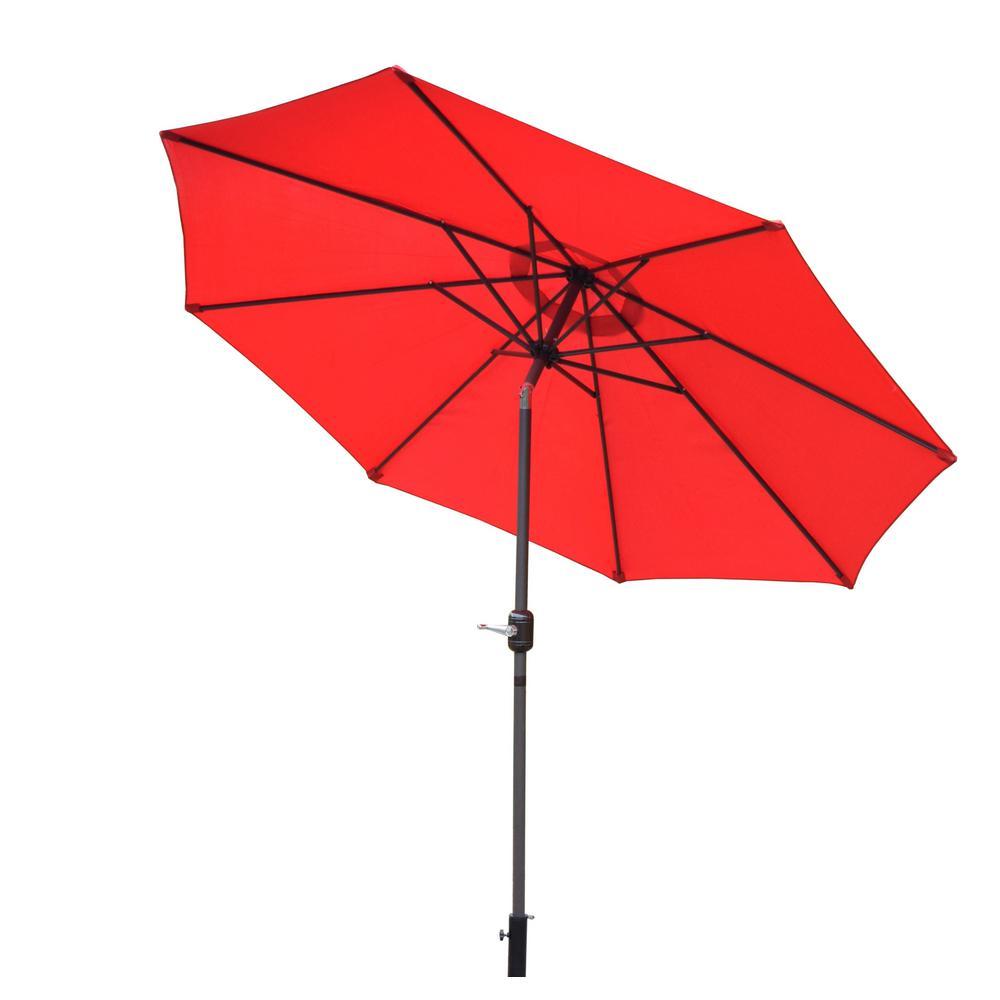 9 ft. Tilt Patio Umbrella in Red