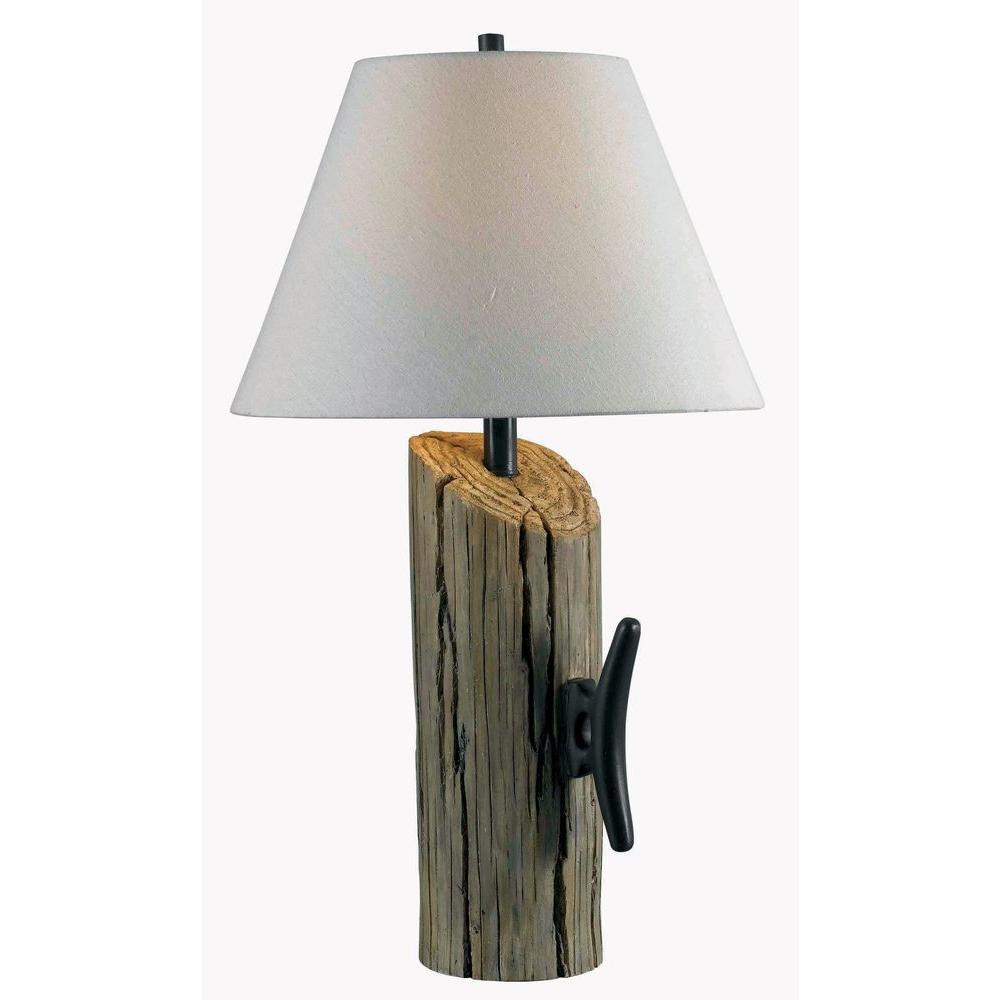 HunterKenroy Home Cole 30 in. Wood Table Lamp